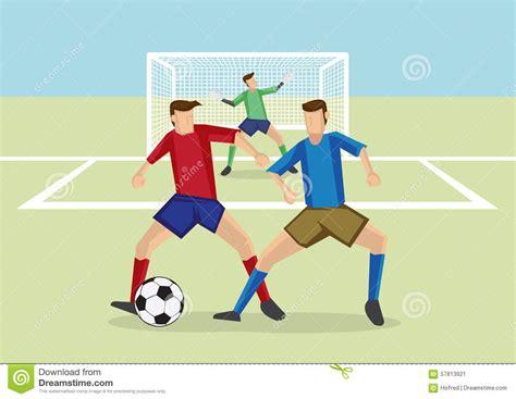 en defensa de espaa defensa de hombre a hombre de los deportes del f 250 tbol ilustraci 243 n del vector imagen 57813921