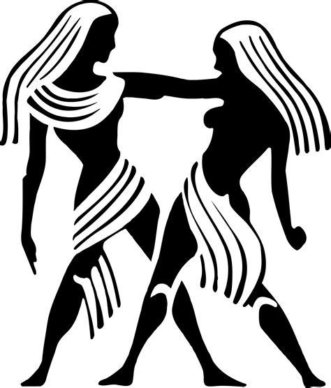 gemini twins zodiac symbol vector clipart image