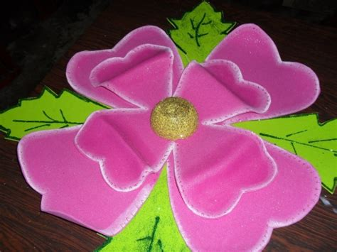 Imagenes De Flores Grandes De Foami | im 225 genes de flores en foami con caritas imagui