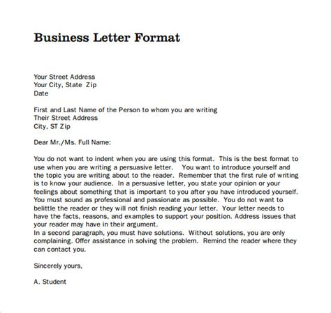 Official Letter Template Official Letter 8 Documents In Pdf