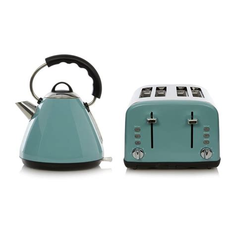 Asda Kettle And Toaster Sets buy george home pyramid kettle 4 slice toaster range blue from our kettle toaster ranges