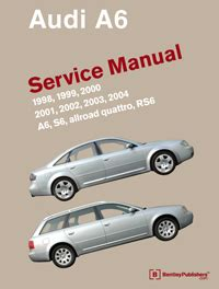 car repair manuals online pdf 1996 audi a6 parental controls audi audi repair manual a6 s6 1998 2004 bentley publishers repair manuals and automotive