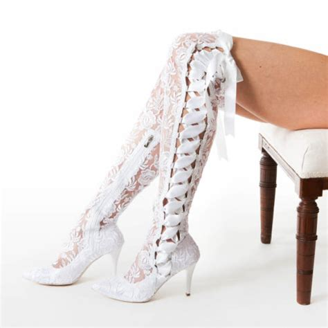 White Wedding Boots by White Wedding Boots 28 Images Handmade White Floral