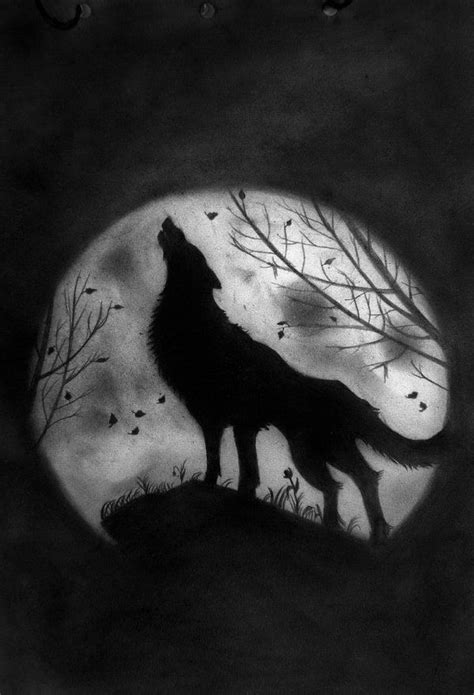 wolf and moon tattoo wolf howling at the moon coloring pages how to draw