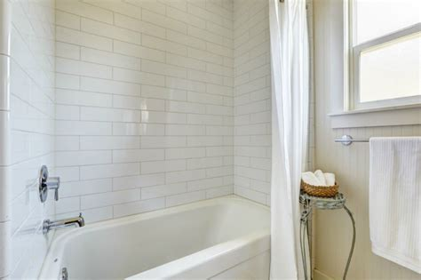 Bathroom Moulding by Cottage Bathroom With Tiled Wall Showerbath Drop In Bathtub In Seattle Wa Zillow Digs