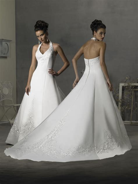 Halter Neck Wedding Dress by Attractive Style Of Halter Beckline Dresses Wedding Planning