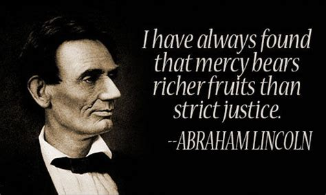 mercy bears richer fruits