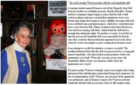 annabelle doll true facts the real annabelle doll details http www