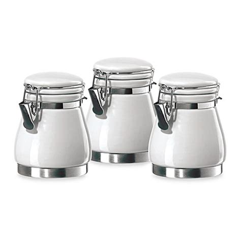 oggi kitchen canisters buy oggi 3 piece pear shaped mini airtight ceramic