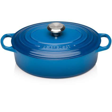le creuset light blue casserole dish le creuset cast iron oval shallow casserole dish 27cm