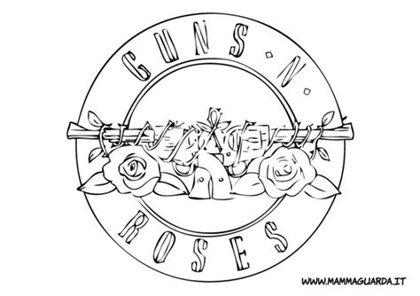 Guns And Roses Coloring Page | guns n roses coloring pages coloring pages