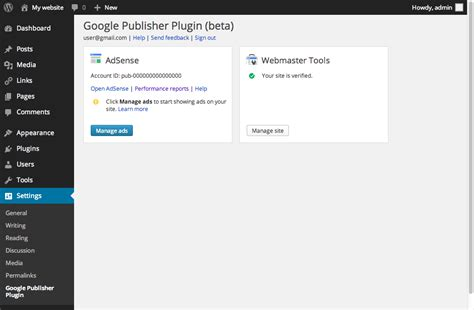 adsense to wordpress google publisher plugin released supports adsense and