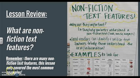 biography text features biography non fiction text features lesson youtube