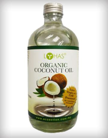 organic coconut cold processed by lohas