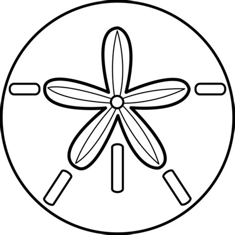 black and white sand dollar free clip art