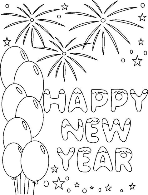 printable images free printable new years coloring pages for kids