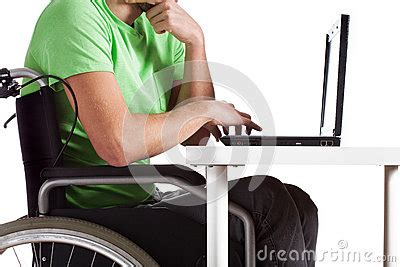 computer desk for disabled disabled by desk royalty free stock photo image 35932695