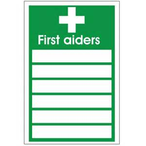 first aiders sign discount fire supplies