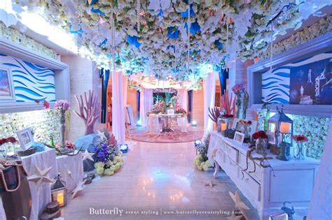 Wedding Theme Idea Scuba Wedding underwater empire butterfly event styling