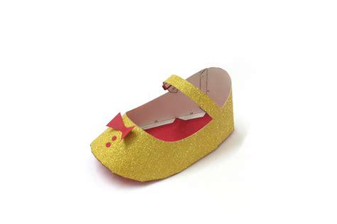 diy paper shoes diy baby shoe favor 3d papercraft by paper amaze