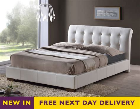 white leather king size bed home decorating pictures king size white leather bed