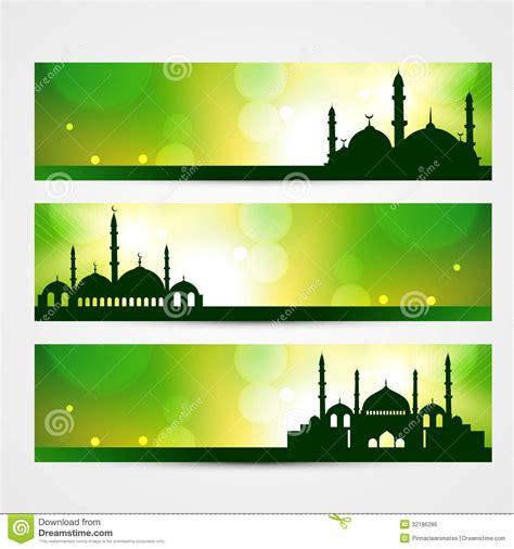 design banner ramadan eid banners stock vector image of festival islam allah