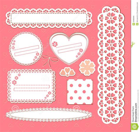 cute lace pattern vector free cute lace vector frames collection stock vector