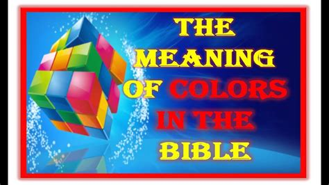 colors in the bible the meaning of colors in the bible what is the meaning