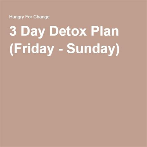 Hungry For Change Documentary Detox by 1000 Ideas About 3 Day Detox On Detox
