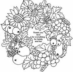 coloring page thanksgiving thank you god 3