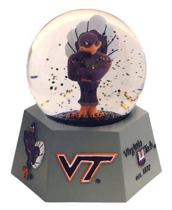 snow globe with fan virginia tech hokies snow globes price compare