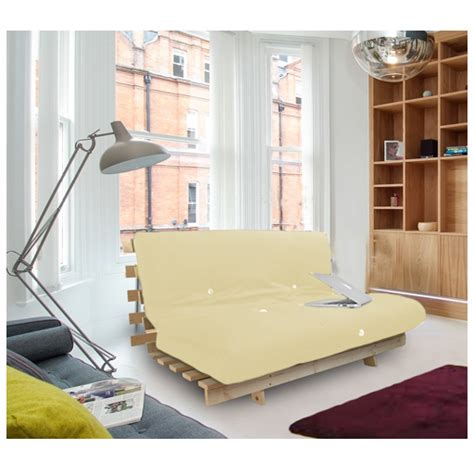 Sofa Beds With Thick Mattress Studio Futon Wooden Frame Sofa Bed Thick Sleeping Mattress Student Dig Ebay