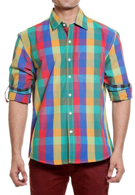 colored shirt tog bright multi color casual cotton shirt tmss113a