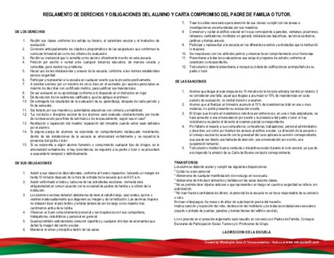 imagenes reglamento escolar primaria propuesta reglamento escolar