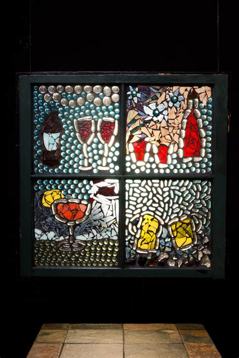 stained glass home decor mosaic window cheers wine decor bar decor stained glass