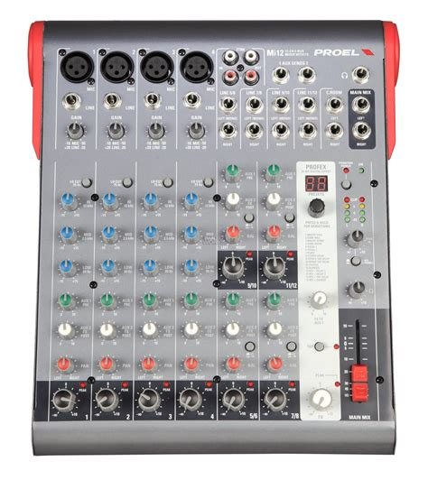 Mixer Audio Proel proel mi12 ultra compact 12ch mixer with effects audio works