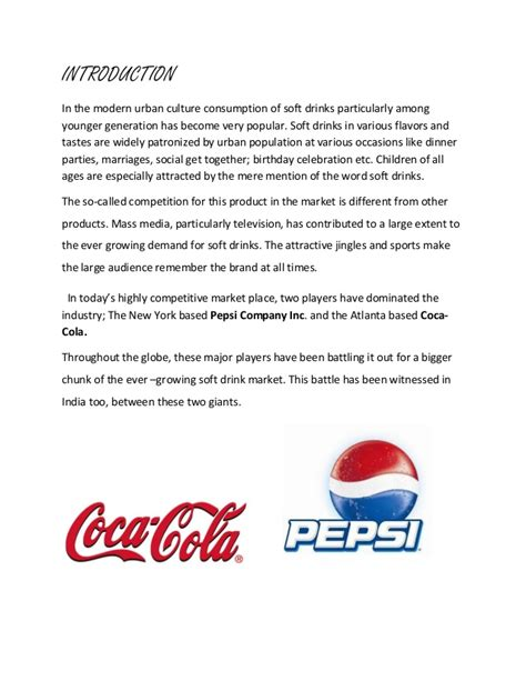 introduction of pepsi slideshare coke and pepsi case study in the indian business environment