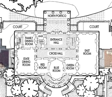 floor plan of the white house first floor white house museum