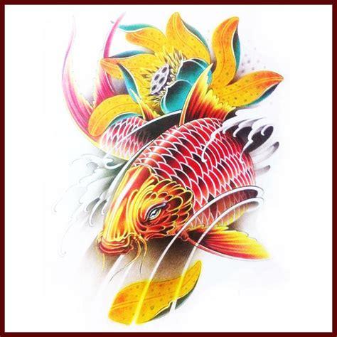 tatto ikan koi simpel high quality grosir tattoo temporer koi dari china tattoo