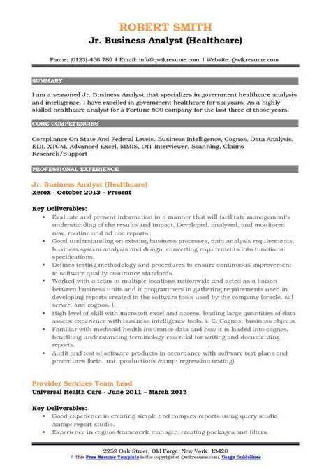 junior business analyst resume abcom