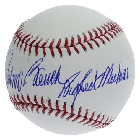 johnny bench signed baseball value johnny bench cincinnati reds autographed rawlings official