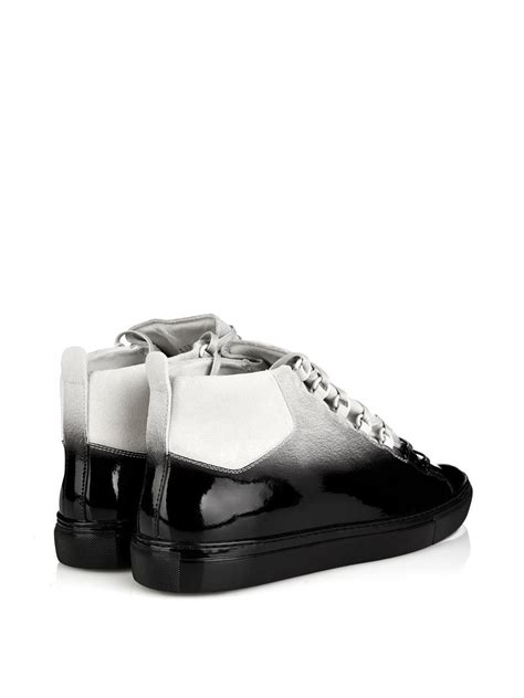 All Black Balenciaga balenciaga arena ombr 233 effect high top trainers in black for lyst