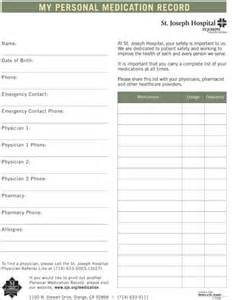 personal medication record template 7 best images of printable pocket medication list my