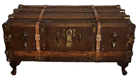 antique steamer trunk coffee table omero home