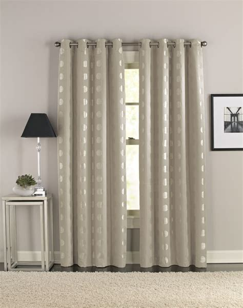 Window Curtains And Drapes Decorating Accessories Inspiring Image Of Window Treatment Design And Decoration Using Silver Metallic