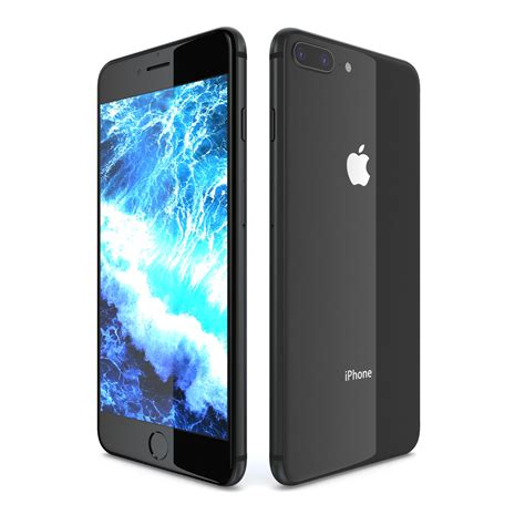 apple iphone 8 plus space gray by cgcarrot 3docean