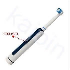 Kajoin 1280x720 spy toothbrush hidden bathroom spy camera hd dvr 8gb