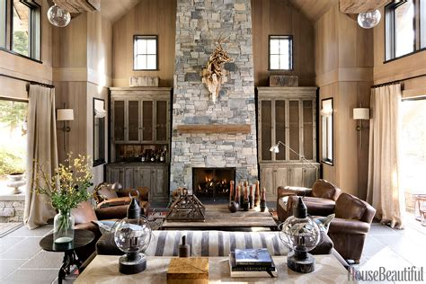stone home decor old hollywood homes stars home a celebration of rough wood