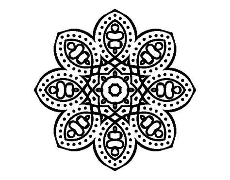 imagenes mandalas arabes dibujo de mandala de inspiraci 243 n 225 rabe para colorear