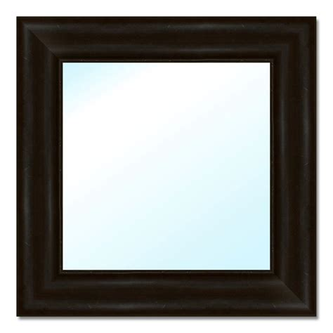 home decorators mirror home decorators collection 17 5 in w x 17 5 in h polystyrene framed mirror 6 0517 the home depot